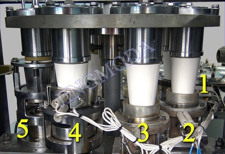 формовка стакана на низкоскоростном станке