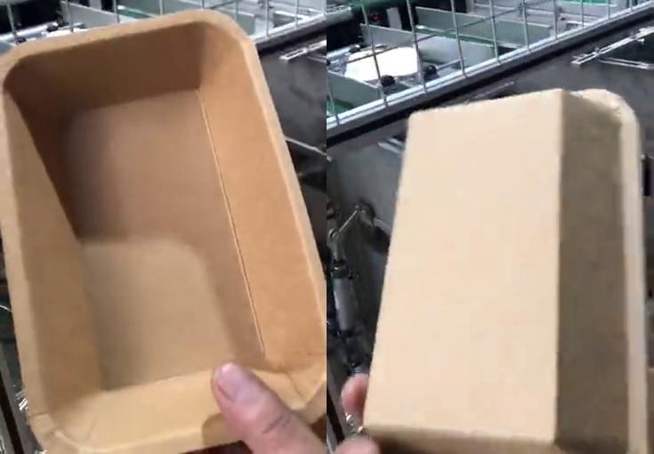 прямоугольная бумажная тарелка
