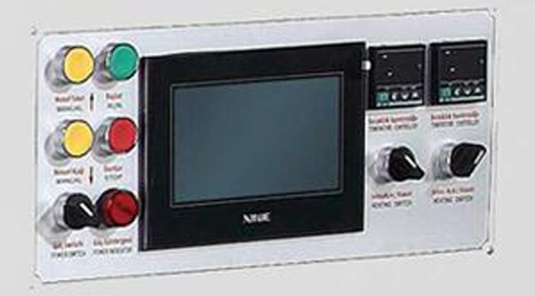 сенсорный монитор упавления станком для производства бумажных тарелок