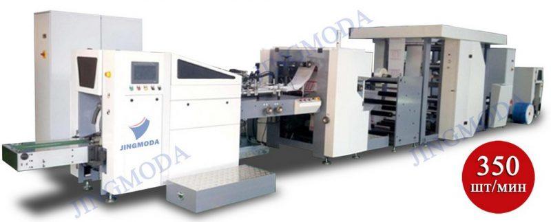 станок для производства пакетов с окошком и печатью логотипа