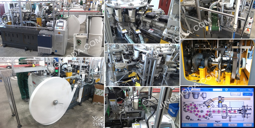 Монтаж станка для производства бумажных стаканчиков Debao