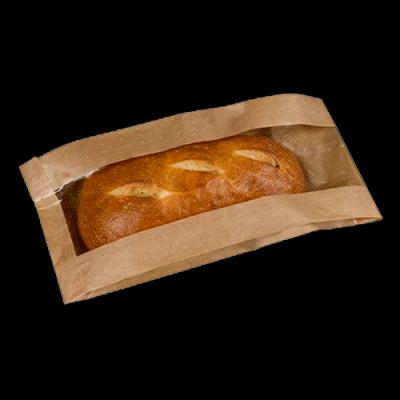 Бумажный пакет с окном и V-дном