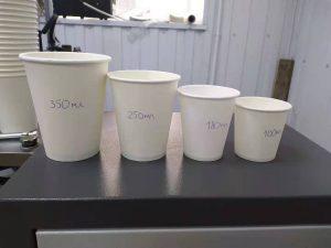 однослойные бумажные стаканчики