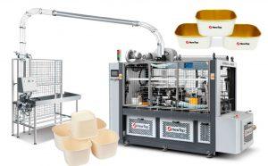 DEBAO-1250D - машина для производства квадратных и прямоугольных бумажных чаш и ведерок